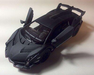 "Brand New 5/"" Kinsmart Lamborghini Veneno Diecast Model Toy Car 1:36 Grey"