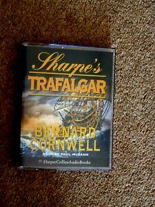 BERNARD-CORNWELL-SHARPE-039-S-TRAFALGAR-AUDIO-BOOKS-2-CASSETTES