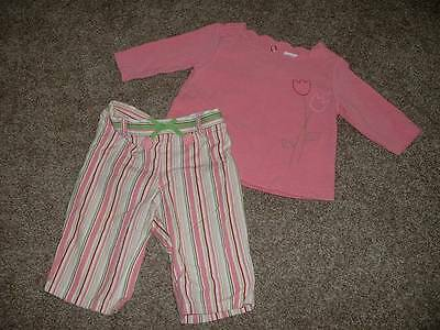 Gymboree Baby Girls Pink Tulip Set Outfit Size 3-6 months mos Clothes Shirt Pant