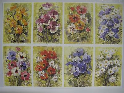 10 x A4 120gsm Watercolour Cottage Garden Prints Card Toppers Cardmaking AM539