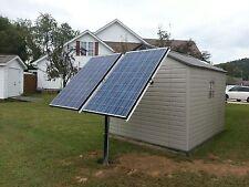 Solar panel pole mount 4 arm kit, Aluminum holds up to 2- 300 watt panels  USA