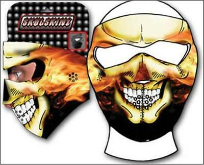 Capsmith Flame Skull Full Face Neoprene Mask Reversable Black Biker ATV Ski