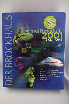 3 Cd-roms Der Brockhaus Multimedial 2001 Mit Handbuch - Cd-rom Orig. Versiegelt FöRderung Der Produktion Von KöRperflüSsigkeit Und Speichel