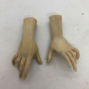 Mani-legno-for-figure-donna-wood-Feet-restauto-pastori-crib-4-5-Palmo-Dita