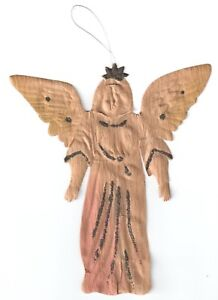 RARE ANTIQUE DRESDEN EMBOSSED PAPER ANGEL CHRISTMAS ...