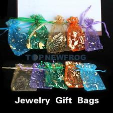 50pcs Mixed Color Organza Chinese-style Jewelry Candy Bag for Gift Wedding TN2F