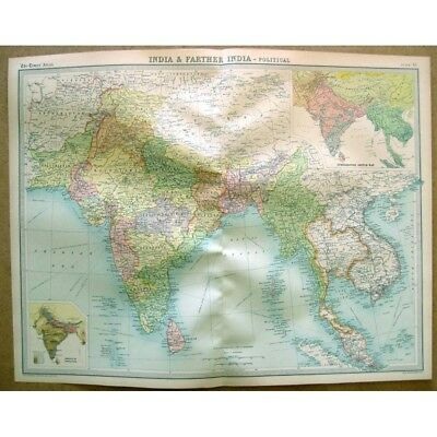 Vintage Map 1922 by Bartholomew SOUTH WESTERN ASIA Political