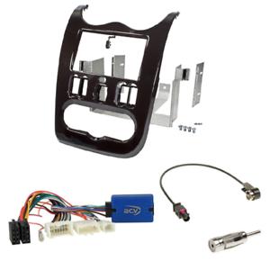 SD Kenwood LFB Adapter 2012-2013 2-DIN Radioblende dunkelbraun Dacia Duster