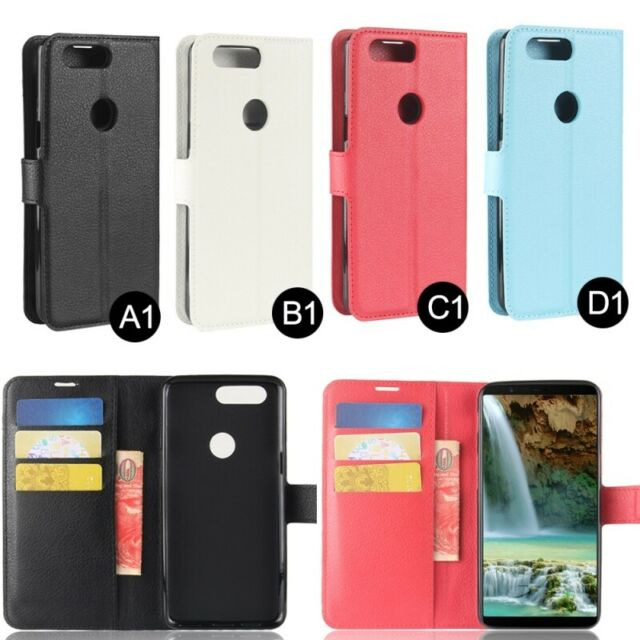 reputable site 5e126 a0089 Genuine Leather Wallet Case For The OnePlus 5T License Slot Flip Phone Cover