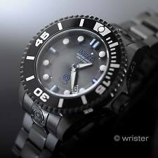 Men's Invicta Grand Diver Automatic Black SS Blue Accent 300m WR 47mm Watch NEW