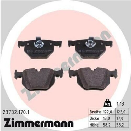 ZIMMERMANN Sport Bremsscheiben Ø320mm Beläge hinten für BMW 5 E60 Touring E61