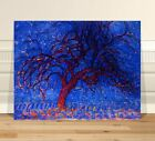 "Piet Mondrian Blue Trees ~ FINE ART CANVAS PRINT 8x12"" Abstact"