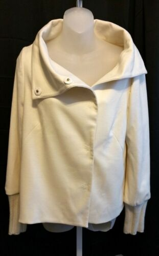 Size Medium New ELIJAH Cream Ivory Wool Swing Jacket Coat NWT Womens