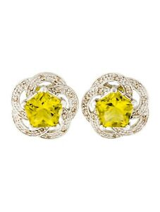 Modified-Pentagonal-Step-Cut-2-60CT-Peridot-With-Round-CZ-Accents-Stud-Earrings