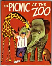 Vintage Children's Wonder Book ~ THE PICNIC AT THE ZOO