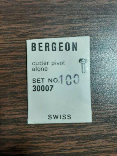 Bergeon Cutter Pivot  Alone Set 1.00 30007 Swiss  NOS