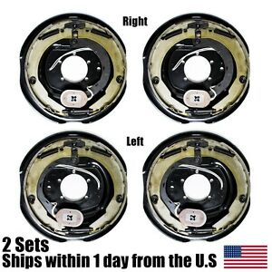 Details About 4 New 12 X 2 Electric Trailer Brake Embly Pair Set For 7000 Lbs Axle 210