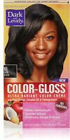 Dark And Lovely Color-gloss Ultra Radiant Color Creme, Rich Black 1 Ea (2 Pack) on sale
