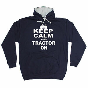 Keep Calm And Farm On Mens Hoodie Funny