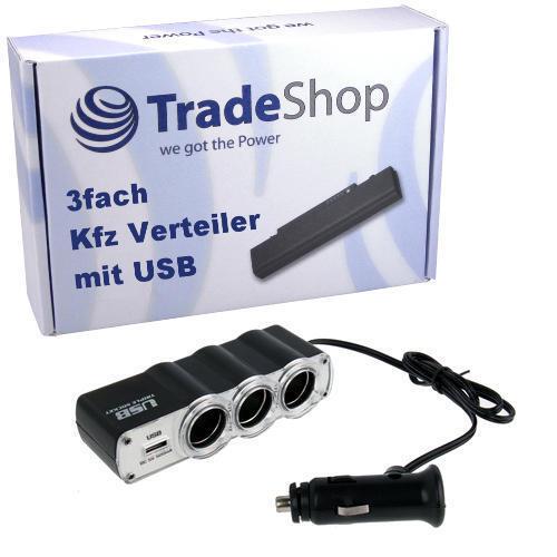 12v//24v USB 3x coche auto 3 veces del encendedor de cigarrillos adaptador regleta de enchufes