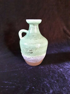 alte Strehla Keramik Henkelvase Ostalgie Lava pottery 50er 60er Jahre 60s 50s