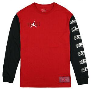 JORDAN-Legacy-AJ-Retro-11-Long-Sleeve-Shirt-sz-XL-X-Large-Red-Black-Bred-AJ11-XI