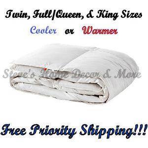Ikea Honsbar Comforter Duck Feathers Down Twin Queen King