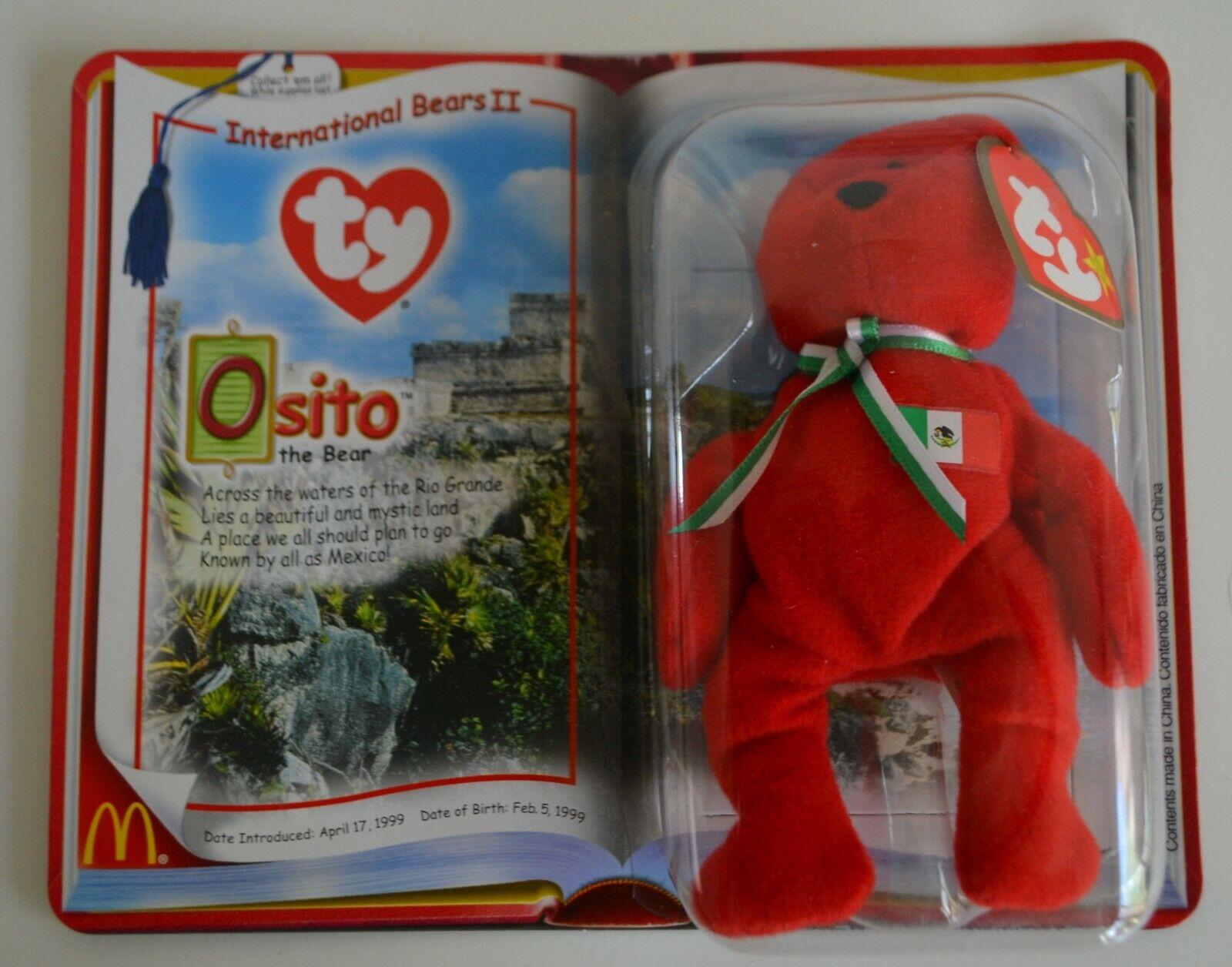Ty, International Bears II, Ostito & & & Germania, Teenie Beanie Babies, McDonalds c09746