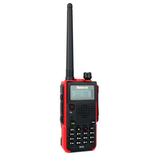 2XRetevisRT5FRS Dual Band Walkie-Talkie Monitor VHF+UHF 128CH VOX FM Radio+Cable