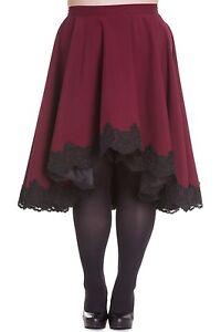 Sale-PLUS-SIZE-Dark-Red-Lucine-Lined-Skirt-18-20-22-Steampunk-Victorian-Gothic