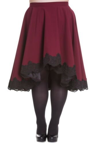PLUS SIZE Dark Red Lucine Lined Skirt 18 20 22 Steampunk Victorian Gothic Sale
