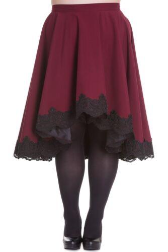 PLUS SIZE Dark Red Lucine Lined Skirt 18 20 22 Steampunk Victorian Gothic Sale