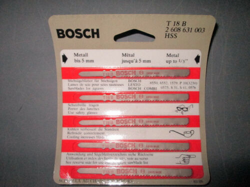 """BOSCH T18B JIGSAW BLADE FOR UP TO 1//5/"""" .200/""""  NEW"""