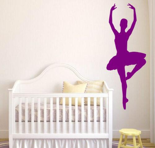 Bailarina De Ballet Kids habitación pegatinas muchos Colores ¡ nuevo! pegatinas de pared Wall Decals