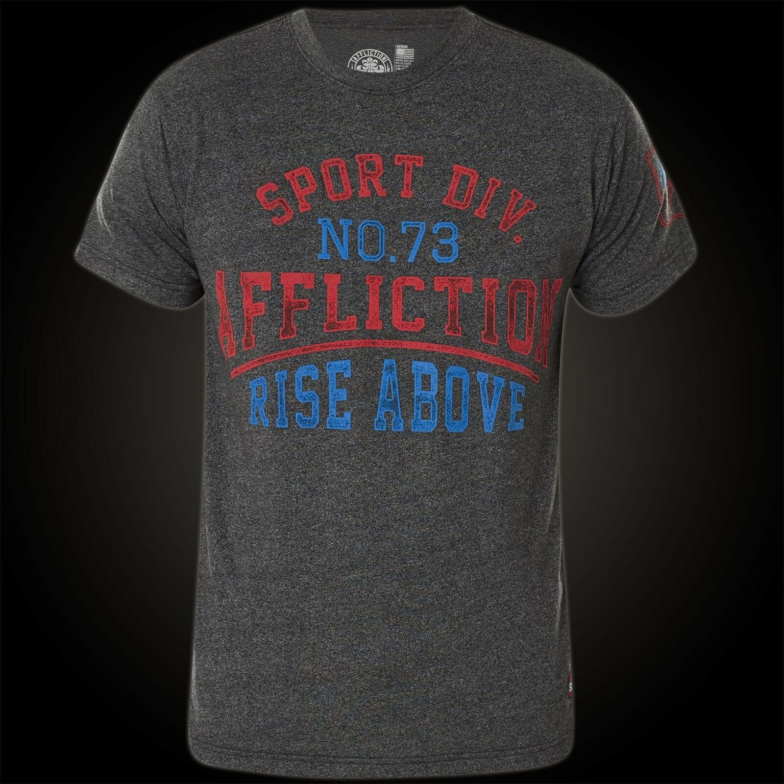 Affliction T-shirt T-shirt T-shirt Rise Above School Grigio T-shirts Uomo 385a28