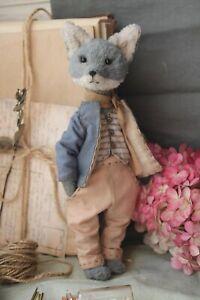 Teddy-Handmade-Toy-Collectable-Gift-Animal-Doll-OOAK-Sea-Wolf-Decor-Sailor
