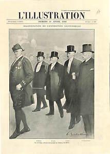 Exposition-Universelle-Emile-Loubet-Alexandre-Millerand-Paris-ANTIQUE-PRINT-1900