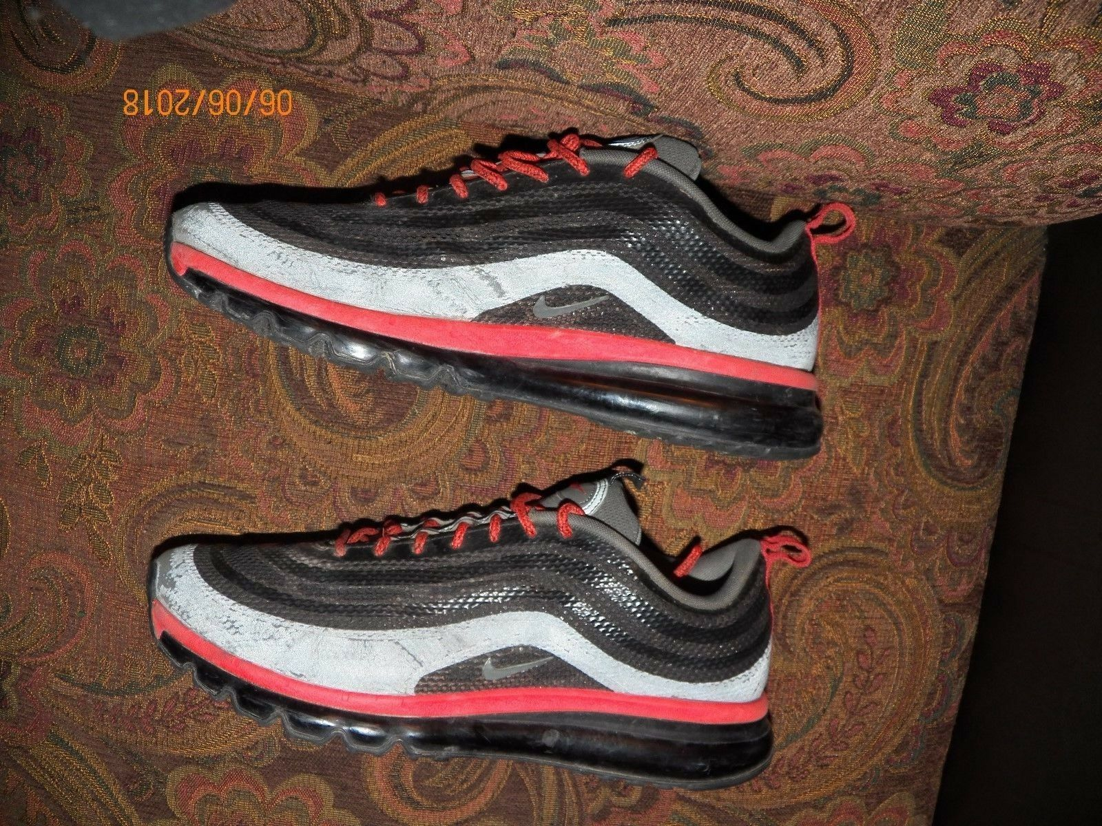 NIKE AIR MAX Price reduction HYP SNEAKERS Red/Grey/Black  Price reduction US MEN'S SIZE 12 Seasonal clearance sale