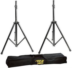 New PSTK103 Heavy-Duty Aluminum Anodizing Dual Speaker Stand Traveling Bag Kit