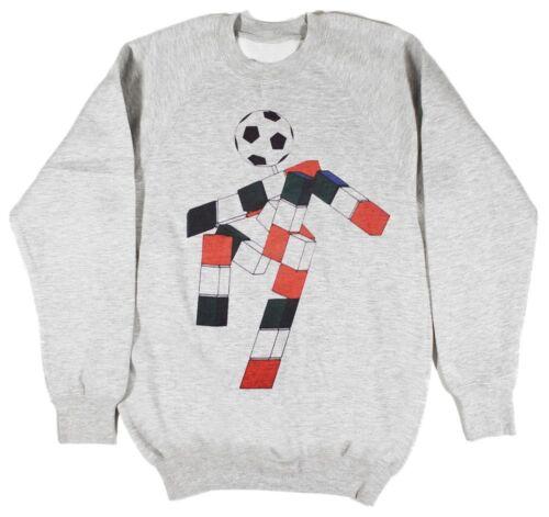 Italia 90 Ciao Football World Cup Grey Sweatshirt Size SMALL-XXL Soccer Panini