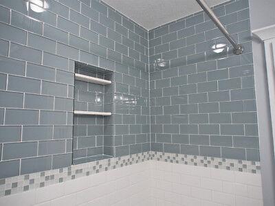 Aqua Blue Gl Subway Tile For Kitchen