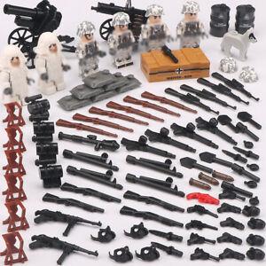 6pcs-set-DE-Militaer-Soldaten-mit-Waffen-Bausteine-Bricks-WW2-Armee-Figuren