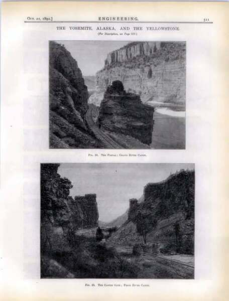 1892 The Toltec Gorge, Tunnel On The Grand River Canyon