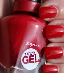 Details About Sally Hansen Miracle Gel Nail Polish 444 Off With Her Red Free Shipping