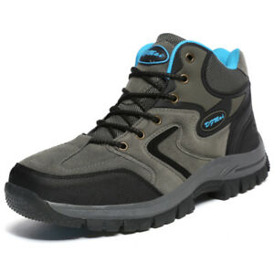 Mens-Winter-Big-Size-Hiking-Boots-Non-Slip-Suede-Trail-Climbing-Outdoor-Shoes