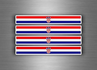 4x sticker decal car stripe motorcycle racing flag bike moto tuning croatia
