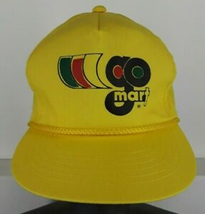 8f006549eb2 Image is loading Vintage-Yellow-GoMart-Gas-Station-Snap-Back-Hat-