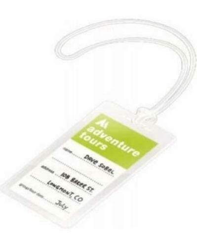 2.5 x 4.25 5 975 Supply Luggage Tag 5 Mil Laminating Pouches with Loops