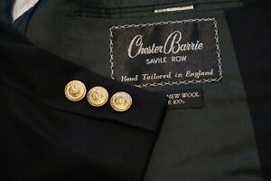 Chester-Barrie-Savile-Row-Alderton-Regency-Navy-Blue-Wool-Gold-Btn-Blazer-44R