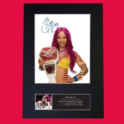 SASHA BANKS WWE Quality Autograph Mounted Signed Photo Reproduction Print A4 707